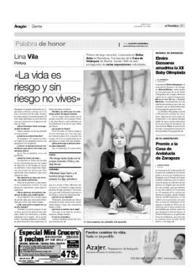 Entrevista de Joaquín Carbonell en El Periódico de Aragón